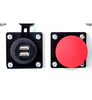 Coffret de distribution sur prises 230V avec prise USB
